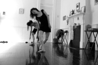 rehearsal image (Gretchen choreography, daMata Acupuncture Studio, Easter 2014)