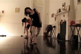 rehearsal image (Gretchen choreography, daMata Acupuncture Studio, Easter 2014)