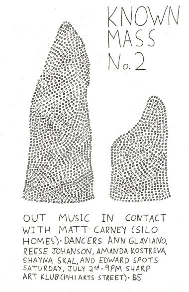 Flier design Matt Carney